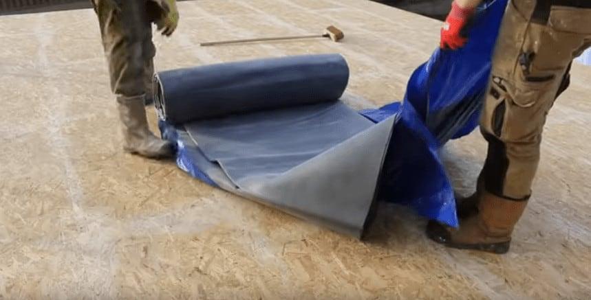 Preparation EPDM Rubber Flat Roof