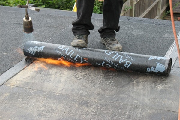 Torching on Felt Flat Roofing